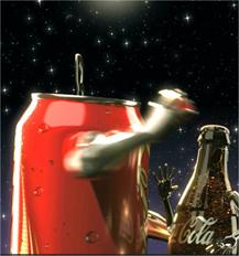 les muestro a continuación es una animación sobre una pelea entre Coca-Cola y Pepsi