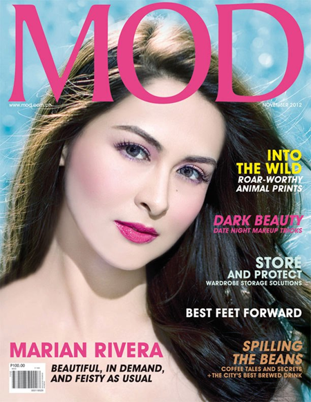 Marian Rivera covers MOD Nov 2012