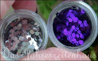 Nageldesign Violetter Sternenhimmel 3