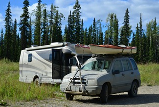 night camp at Irons Creek