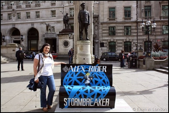 Alex Rider book bench