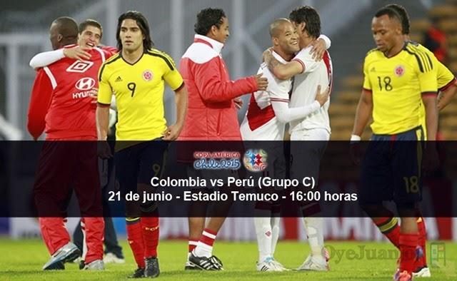 Colombia vs Perú - 21 de junio - Grupo C