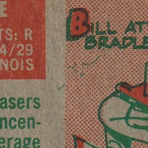 1959 Topps 459 Bill Tuttle variation