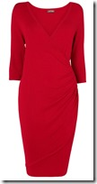 Phase Eight Red Knit Wrap Dress