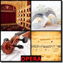 OPERA- 4 Pics 1 Word Answers 3 Letters