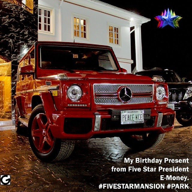 Photo: Kcee Shows off his 2013 Benz G-Wagon Birthday Gift from Brother