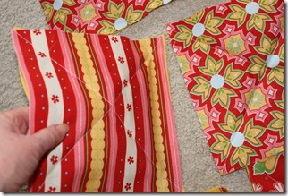 Rag Quilt Yellow and Red 009