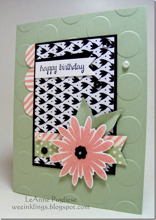LeAnne Pugliese WeeInklings Flower Patch Birthday Stampin Up