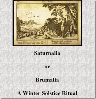saturnalia ritual