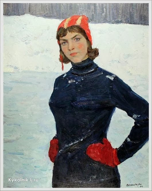 Непостаев Виктор Кузьмич  (Россия, 1918) «Спортсменка» 1964