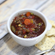 Slow Cooker Hamburger Soup