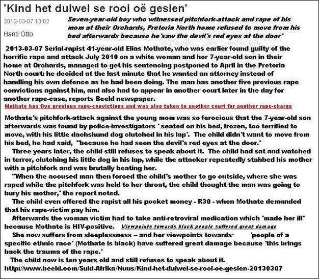 ORCHARDS PRETORIA NORTH MOM RAPED PITCHFORK ATTACK ELIAS MOTHATE 41 GUILTY