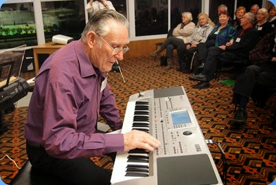 Roy Steen played his Korg Pa80 for us and gave a superb mini concert. Photo courtesy of Dennis Lyons.