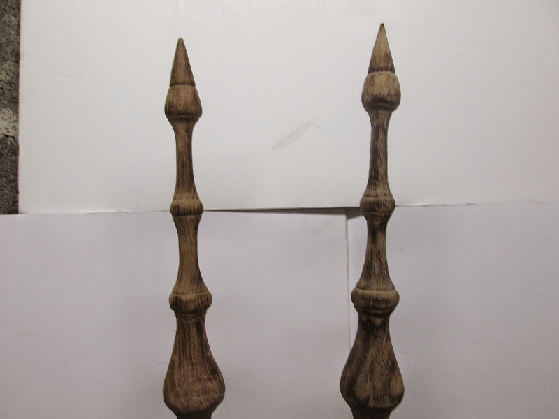 Wood Finial Pair