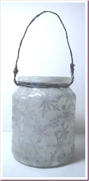 Snowflake Christmas Jar lantern 1