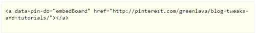 recent pins HTML link