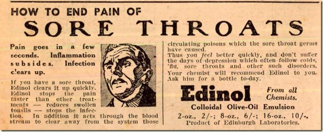 p 34 sore throat ad