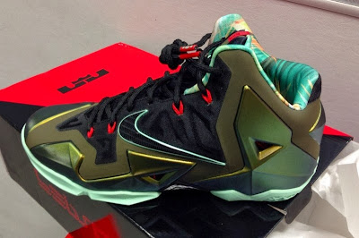 nike lebron 11 gr army slate 11 01 parachute gold King of the Jungle LeBron 11 is Only Five Days Away!