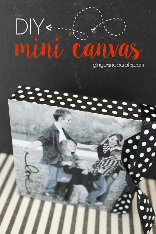 DIY Mini Canvas at GingerSnapCrafts.com #canvascorp #ad
