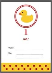 Ente-Einladung