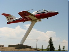 8511 Saskatchewan Trans-Canada Highway 1 Moose Jaw - Canadair CT-114 (Tutor jet) at Visitor Centre