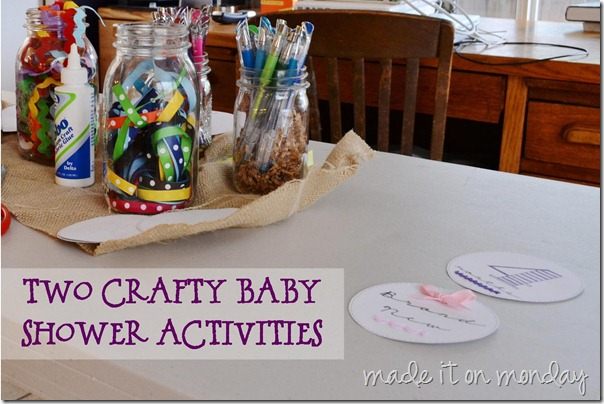 2 Crafty Baby Shower Activities with Free Printable