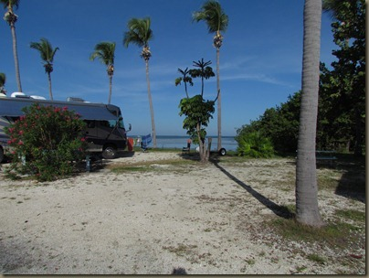 that blue coach is in site 446 at sunshine key..this site is to the right