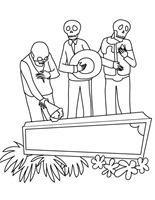 dia de los muertos colorear  buscomagenes   (8)