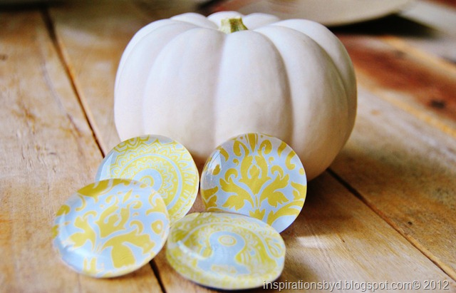 yellow damask magnets