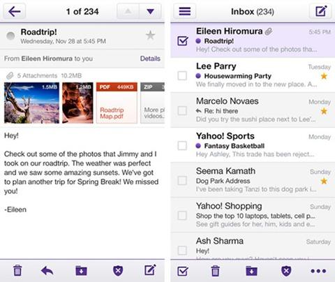 La nueva interfaz de Yahoo