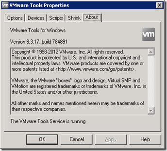 VM Tools version 8