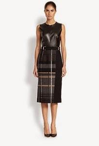 1062-BOSS-HUGO-BOSS-Women-s-Leather-Twill-Check-Dress-1