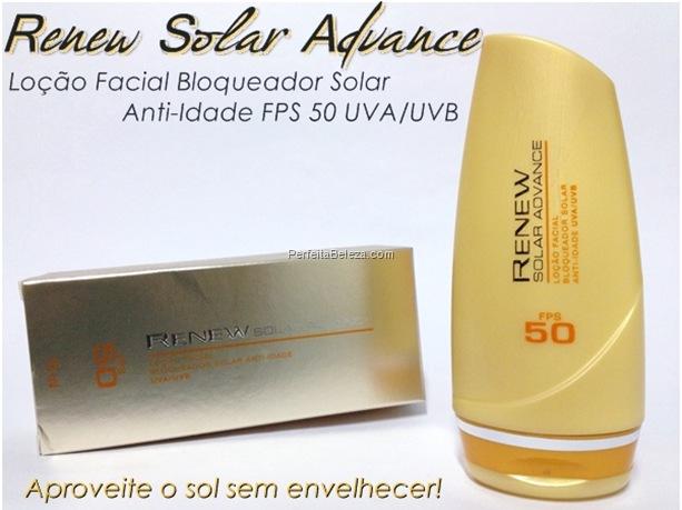 Renew Solar Advance Loção Facial Bloqueador Solar-protetor solar renew 50