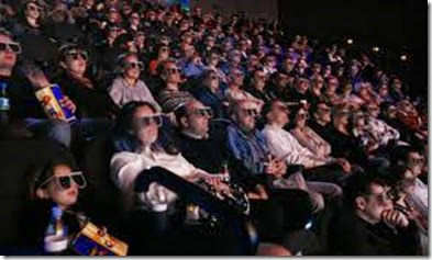 crowded cinema hall