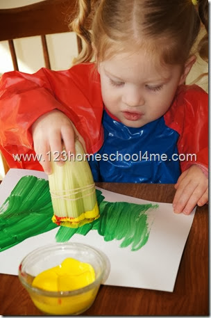 Painting Spring Flower with Celery