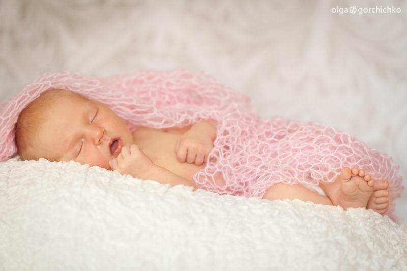 Фотосессия новорожденной Алины