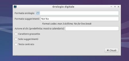 Lubuntu 14.04 - Applet Orologio