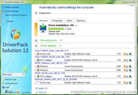 Driver Pack Solution 12.3 screenshot