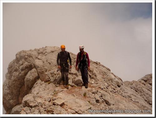 Via Directa de Los Martinez 250m D- V- (Picu Urriellu, Picos de Europa) (Omar) 0890