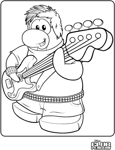 The Famous Penguin Band Member Stompin Bob Is Now Available As A Coloring Page COOL It Will Be FUN To Color This Friend At