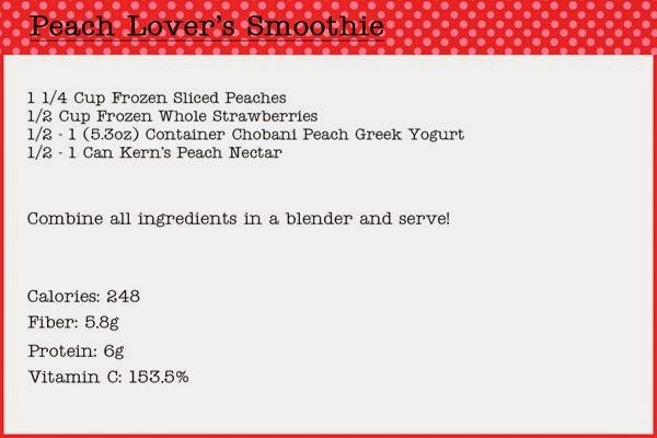Peach Lover's Smoothie Recipe
