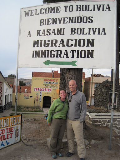 On the Peru-Bolivia border.