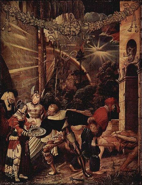 N.M Deutsch,La décollation de St Jean-Baptiste 1517