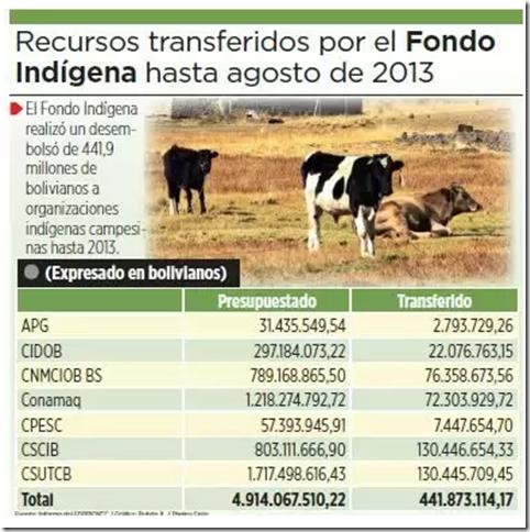 Desvío de recursos en Bolivia