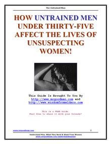 Cover of Shawn Nelson's Book The Untrained Men Guide
