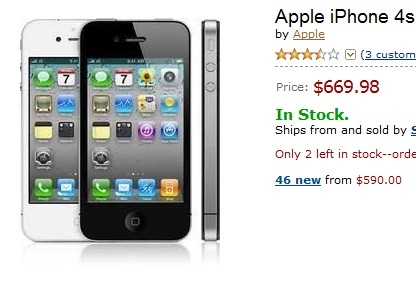 iPhone 4s disponible en Amazon