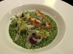 Savoury Porridge (c.1660): Cod head, smoked beetroot, garlic, parsley & fennel