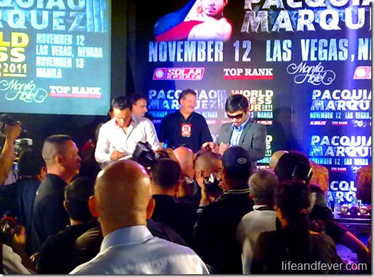pacquiao marquez manila press conference 2011