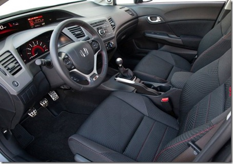 2012 Honda Civic Si Sedan interior 1