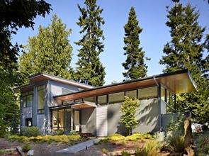 casa revestimiento metal  vidrio y aluminio